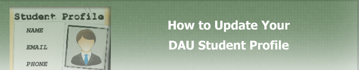 How to Update Your DAU Student Profile