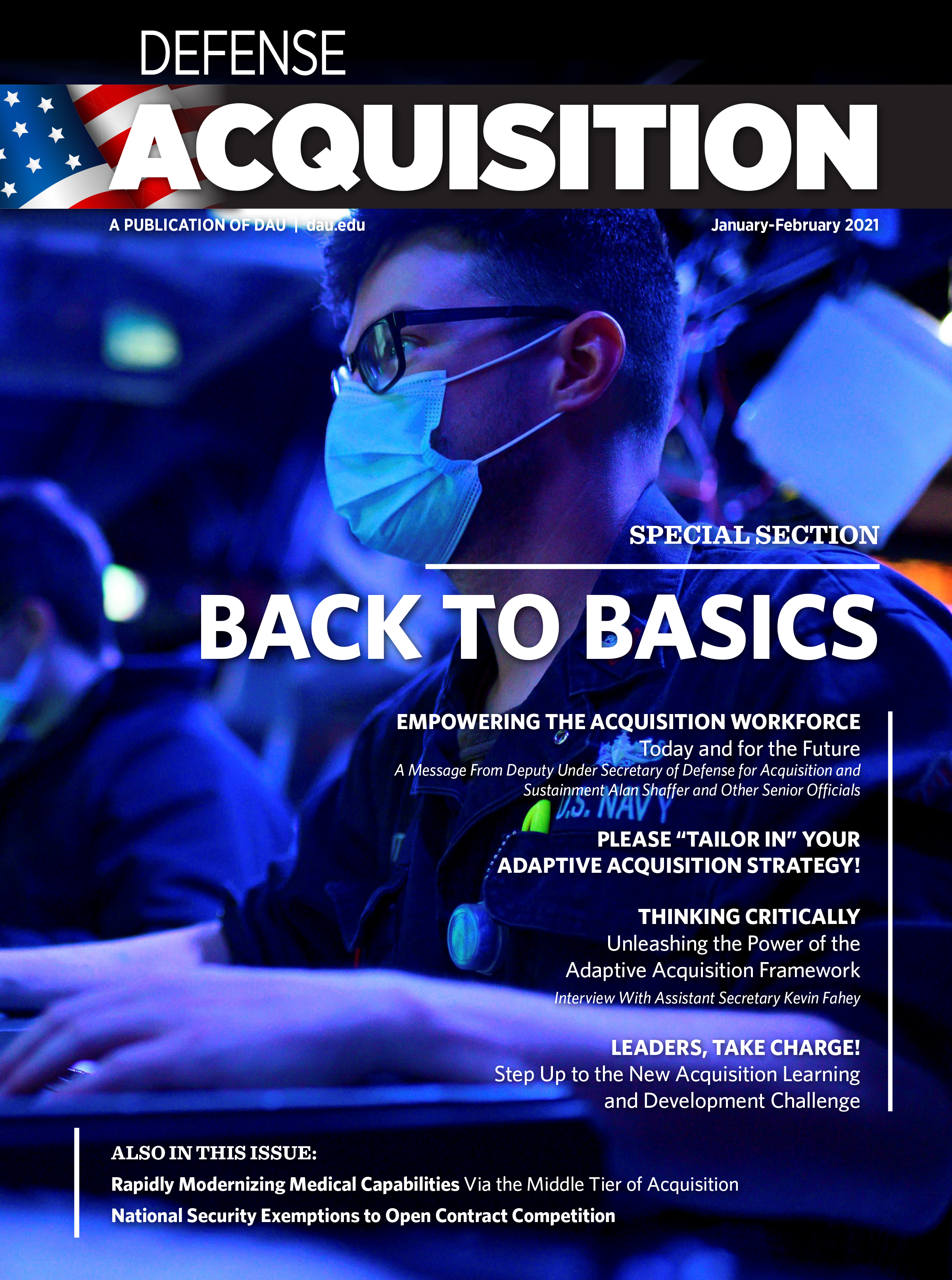 Defense Acquisition Magazine November to December 2021 cover