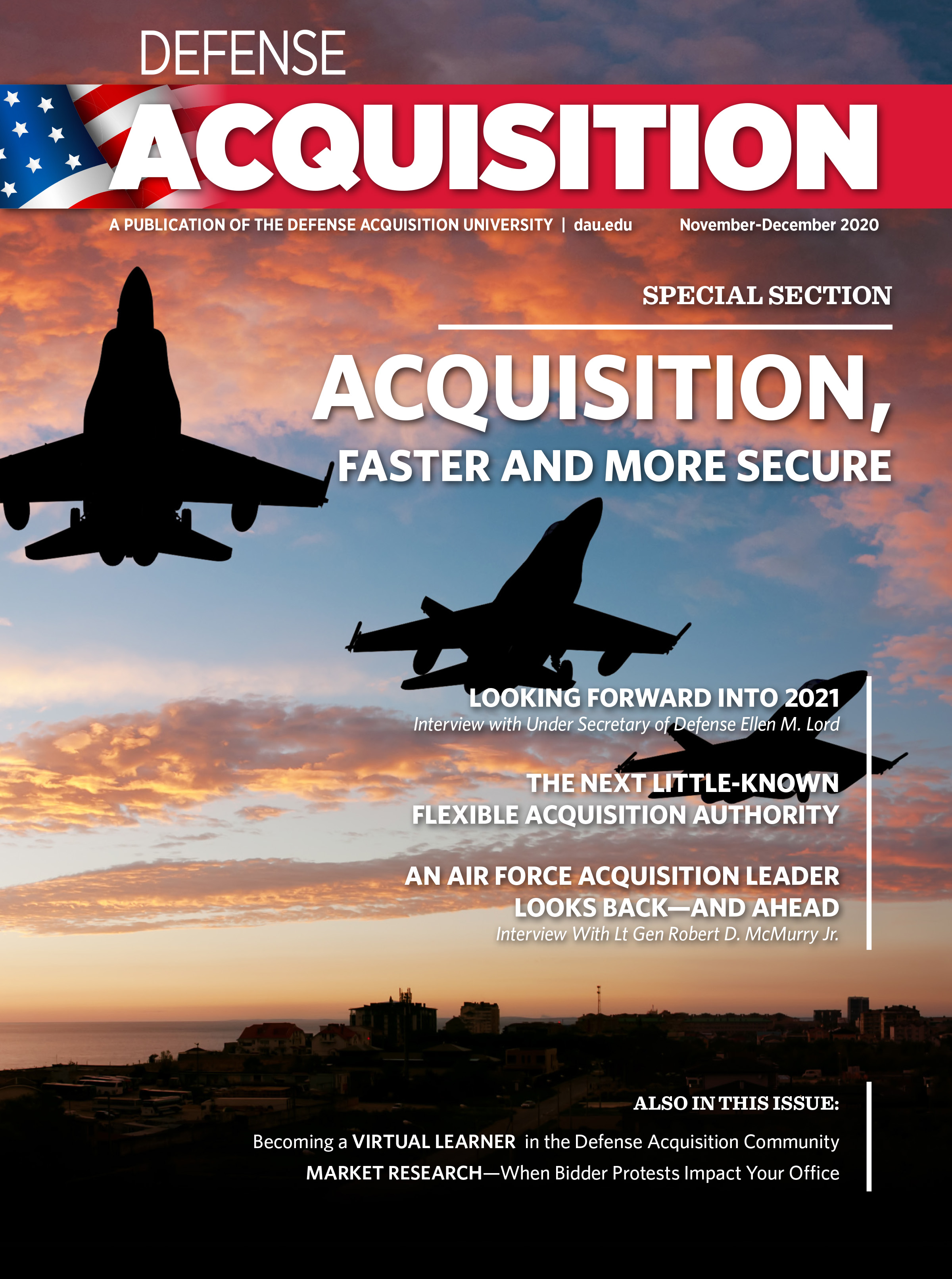 Defense Acquisition Magazine November to December 2020 cover