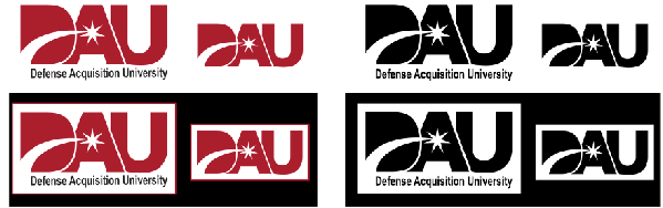 Acceptable versions of the DAU logo