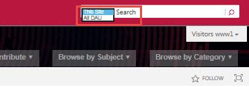 Search within the community or throughout DAU's assets.