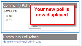 Your new poll is now displayed.
