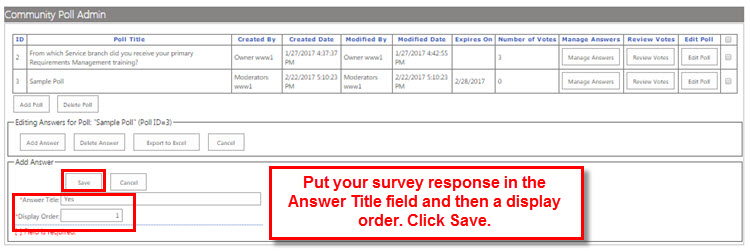 Complete the fields and  click Save.